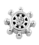 Ship Wheel Floating Charm