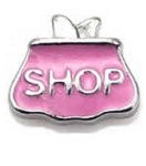 Shopping Bag Floating Charm