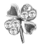 Silver Clover Floating Charm