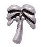 Silver Palm Tree Floating Charm