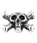 Skull and Cross Bones Floating Charm