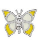 Yellow Modern Butterfly Floating Charm