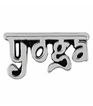 Yoga Silver Floating Charm