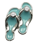 Blue Flip Flops Floating Charm