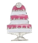 Wedding Cake Floating Charm