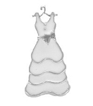 Wedding Dress Floating Charm