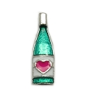 Wine Bottle Floating Charm