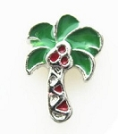 Tropical Palm Tree Floating Charm