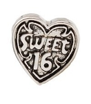 Vintage Sweet 16 Floating Charm