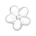 White Flower Floating Charm