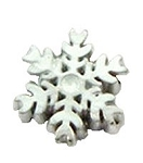 White Snow Flake Floating Charm
