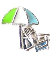 Beach Umbrella and Chair Floating Charm