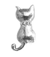 Silver Cat Floating Charm
