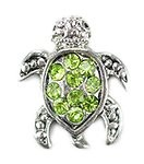 Crystal Green Sea Turtle Floating Charm