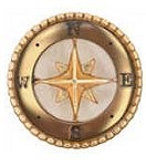 Gold Compass Floating Charm