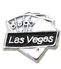 Las Vegas Poker Cards Hand Floating Charm