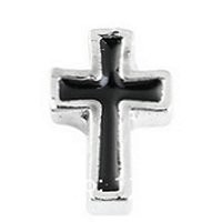 Black Cross Floating Charm