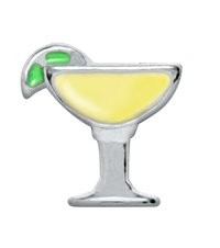 Margarita Glass Floating Charm