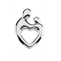 Mom and Baby Heart Floating Charm