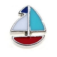 Sail Boat Floating Charm