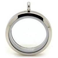 Alloy Classic Silver 30mm Floating Locket w/ Chain
