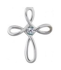 Modern Cross Floating Charm